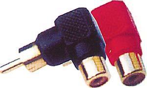 Redukce CINCH úhlová červená - DVDK961